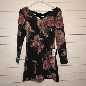 NWT By By grey floral dress